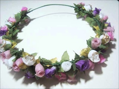 DIY: Tiara Floral (Floral Crown)