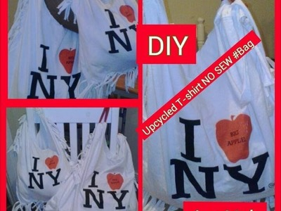 DIY:UPCYCLED T-Shirt NO SEW #Bag