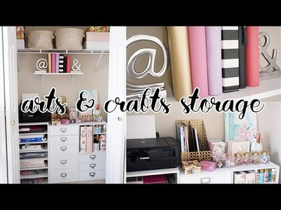 EASY Office Closet Makeover! Arts & Crafts Storage Closet   Charmaine Dulak