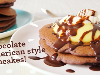 Egg free chocolate pancakes (dairy, gluten, soya and nut free too!)