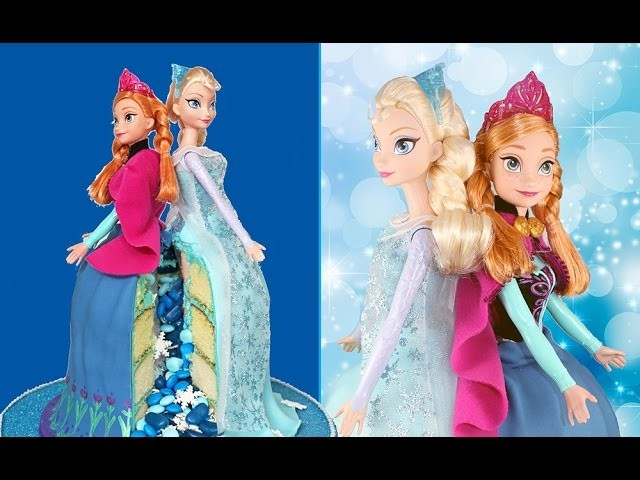 FROZEN CAKE! Elsa & Anna Princess PINATA Cake feat. BOTH Elsa AND Anna