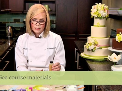 Handcrafted Sugar Flowers with Jacqueline Butler: Glazing Leaves