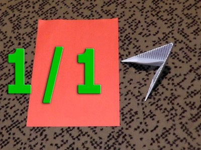 How to fold the pieces (triangles) for 3D origami size 1.1