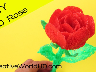 How to Make 3D Rose - 3D Printing Pen Creations.Scribbler DIY Tutorial