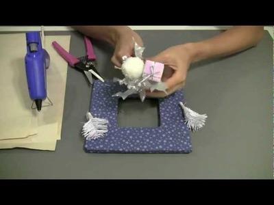 How to make a Christmas Fabric Frame