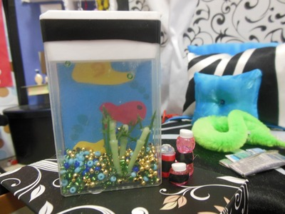 How To Make a Doll Fish Tank and Fish Food