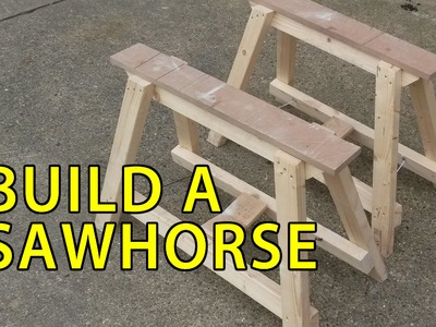 How To Make a Folding Sawhorse DIY