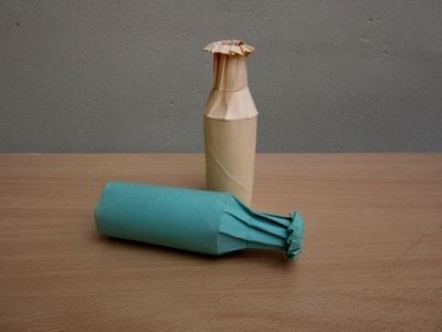 How to make a Paper Bottle - Easy Tutorials