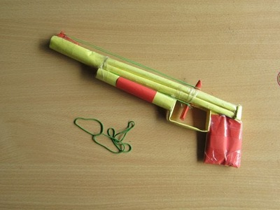 How to Make a Paper Shotgun That Shoots Rubber Band - Easy Tutorials