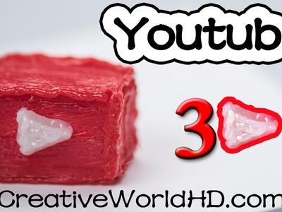 How to Make You Tube Logo - 3D Printing Pen Creations.Scribbler DIY Tutorial