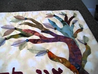 Jane Pearlson, quilter from Huntington, NY, and her decorative quilts