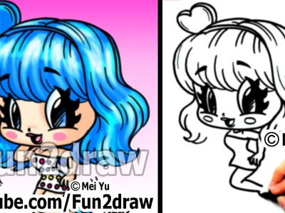 Katy Perry Chibi Drawing Tutorial - Super Cute & Fun! - Popular Cartoon Drawing Video - Fun2draw