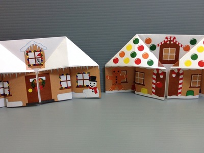 Make Your Own Origami Christmas Gingerbread House