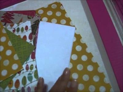 """Mini album """"happy Winter"""" hecho con sobres de carta"""