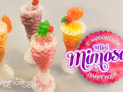 Mini Loom Mimosas: 3D Rainbow Loom Cocktail Series