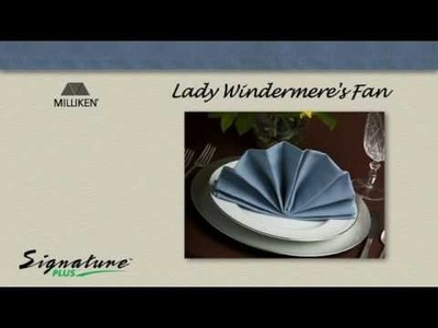 Napkin Folding Tutorial - How to fold an Lady Windermere's Fan napkin