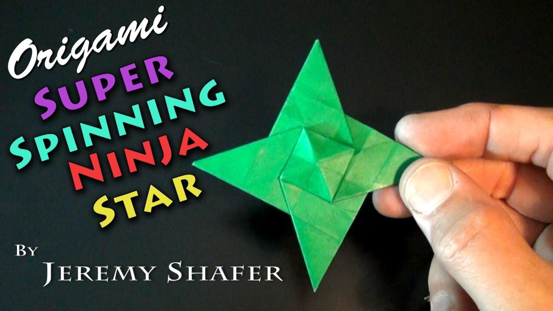 Origami Super Spinning Ninja Star