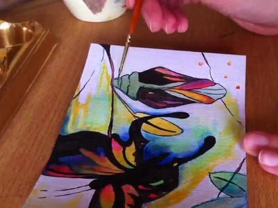 Painting a Butterfly Using Ink