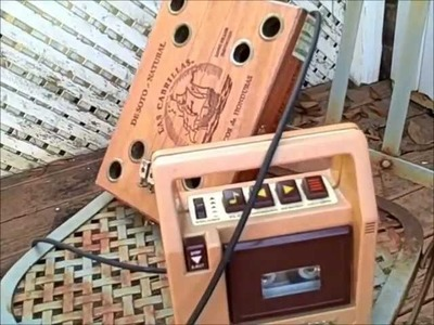 """Radio guitar Amplifier HOW to turn a tape deck convert radio into an amp """"hackwired cassette player"""""""