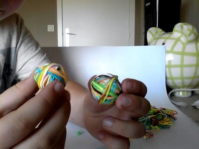 Rainbow loom balletje