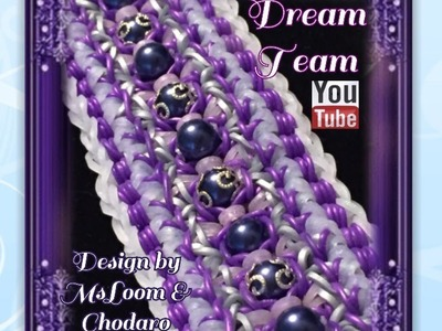 Rainbow Loom Band DreamTeam Bracelet Tutorial. how To