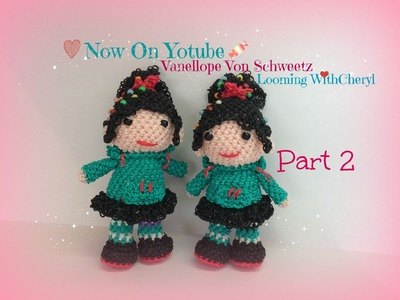 Rainbow Loom Vanellope Von Schweetz  Part 2 of 3 - Loomigurumi - Amigurumi Looming withCheryl