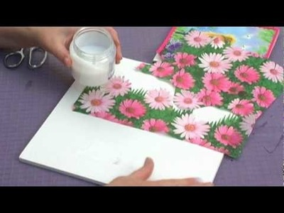 Table Top Puppet Theater : Decorate a Puppet Theater with Flower Napkins