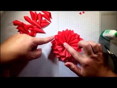 A La Cards: Cotton Paper Dahlia Tutorial
