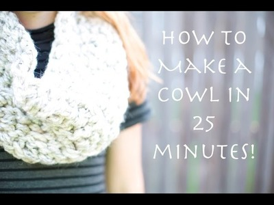 Arm Crochet Cowl in 25 minutes || SO EASY