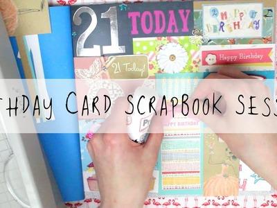 Birthday Card Scrapbook Session! | MyGreenCow