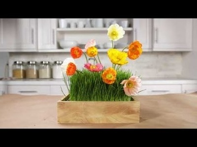 Create Flower Centerpieces with Real Grass