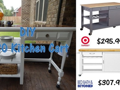 DIY $30 Outdoor Kitchen Cart
