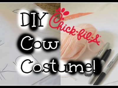 DIY Chick Fil A Cow Costume!
