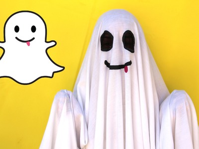 DIY Easy Halloween Costume: Snapchat Ghost || Lucykiins