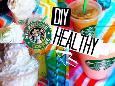 DIY Healthy Starbucks Summer Drinks!