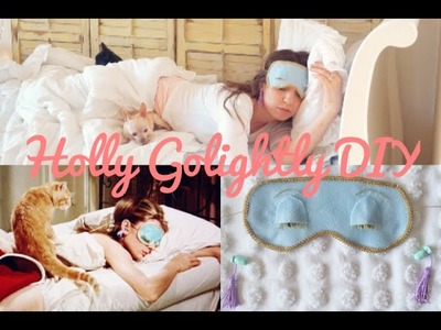 DIY Holly Golightly Eye Mask & Ear Plugs