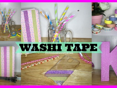 DIY Ideas Using WASHI TAPES ✿  | RealAsianBeauty