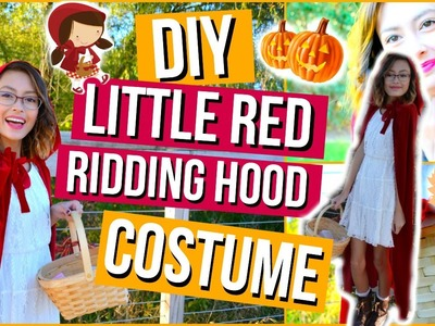 DIY Little Red Riding Hood Halloween Costume & Makeup! | Mish Shelly