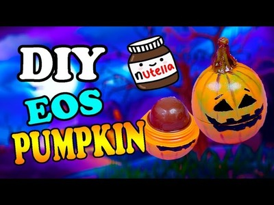 DIY Nutella Eos Without Beeswax lip balm- added Pumpkin Spice Eos for Fall |halloween 2015