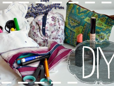 DIY Pencil Case & Makeup Bag || No Sew & Sew