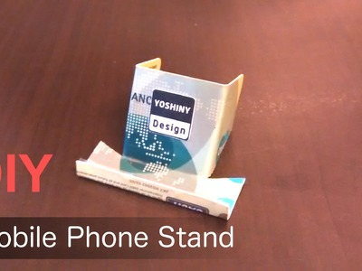 DIY simple Mobile Phone stand from a credit card.