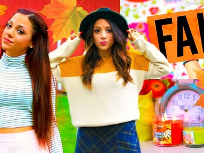 FALL 2015! DIY Room Decor, Outfit Ideas, Essentials + More! | Niki and Gabi