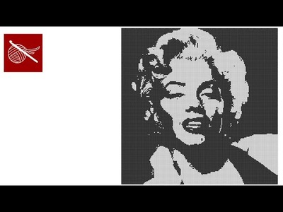 Filet Crochet Marilyn Monroe Tutorial