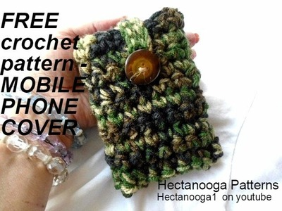 FREE CROCHET PATTERN, CELL PHONE POUCH
