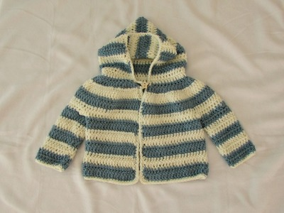 How to crochet an EASY children's sweater. hoodie. jacket