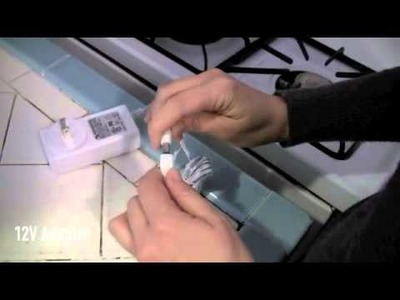 How to Install Under Cabinet LED Lighting with cabinet gaps