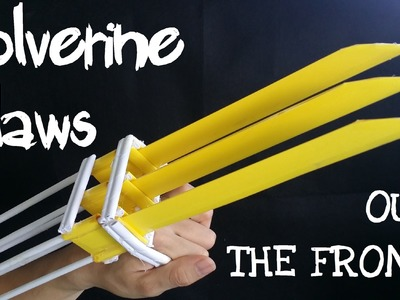How to make Paper Wolverine Claws that Work | OTF (out the front) Claws