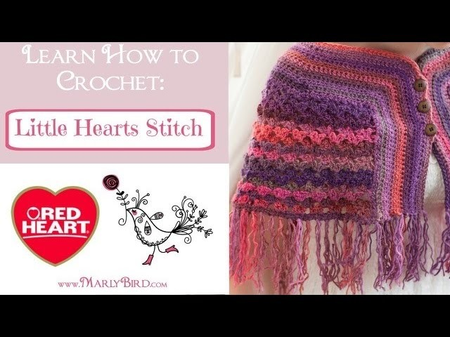 Learn how to Crochet the Little Hearts Stitch Pattern