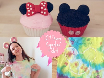 Mickey & Minnie Cupcakes + DIY Disney Shirt