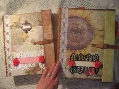 NEW TUTORIAL! Double Paper Bag Scrapbook Mini Album